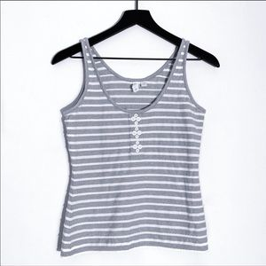 Eloise | Anthropologie Striped Knit Tank Top M